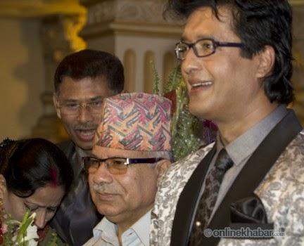 Madhav kumar nepal, rajesh hamal and madhu bhattarai wedding