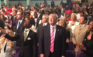 Video> Donald Trump Receives Standing Ovation at Detroit Great Faith Ministries Church
