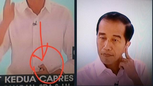 Warganet Bahas Foto Jokowi saat Debat, Curiga Teknologi Canggih