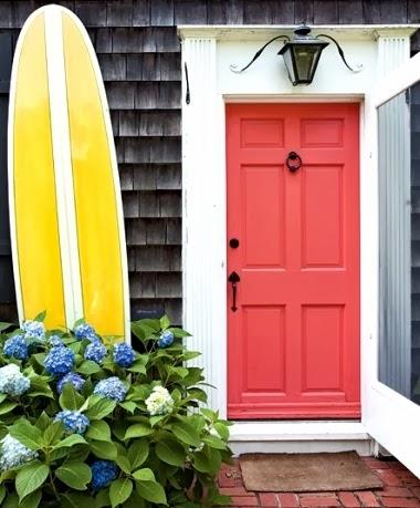 surfboard by front door
