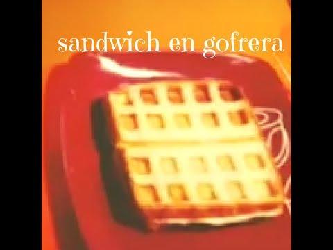 como hacer sandwich de jamon york y queso en gofrera