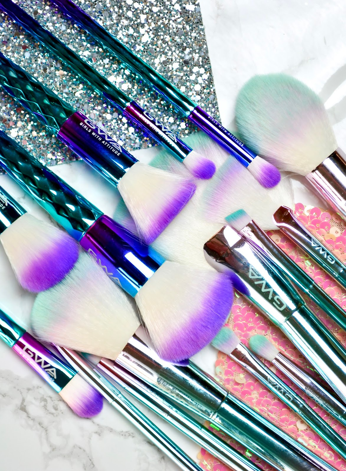 Girls With Attitude Mermaid and Unicorn Brushes