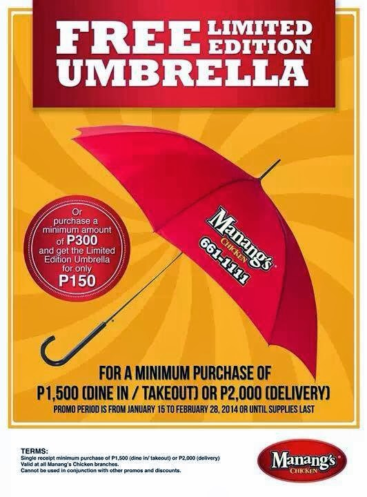 D I G G Davao Manang S Chicken Free Limited Edition Umbrella