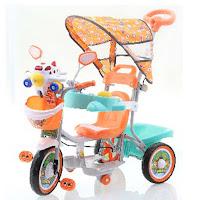 family aeroplane sepeda roda tiga anak