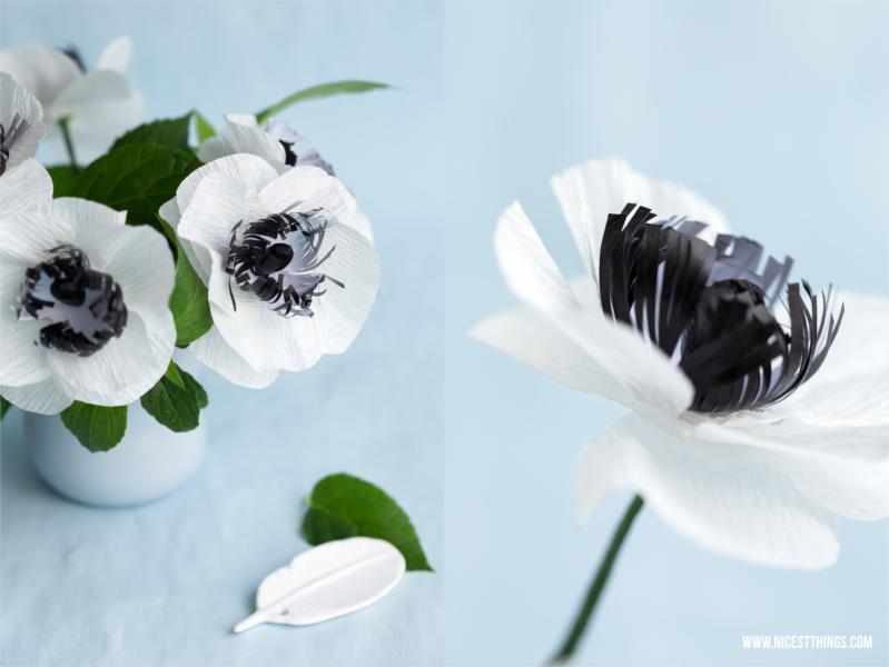 Papierblumen Basteln Diy Anemonen Aus Krepppapier Nicest