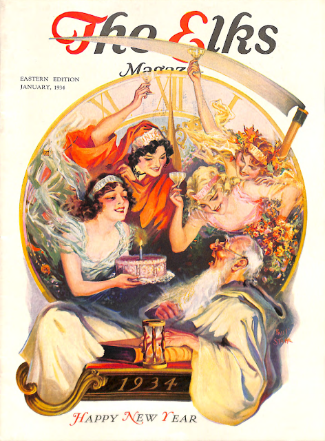 Cover by Paul Stahr for The Elks magazine 1934 January