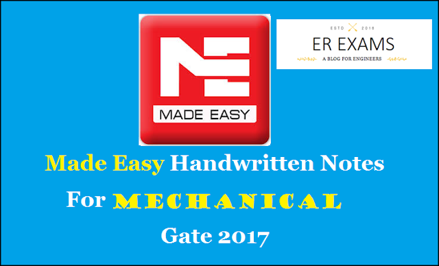 Made Easy Hand Written Notes Mechanical Engineering For GATE, IES, PSU