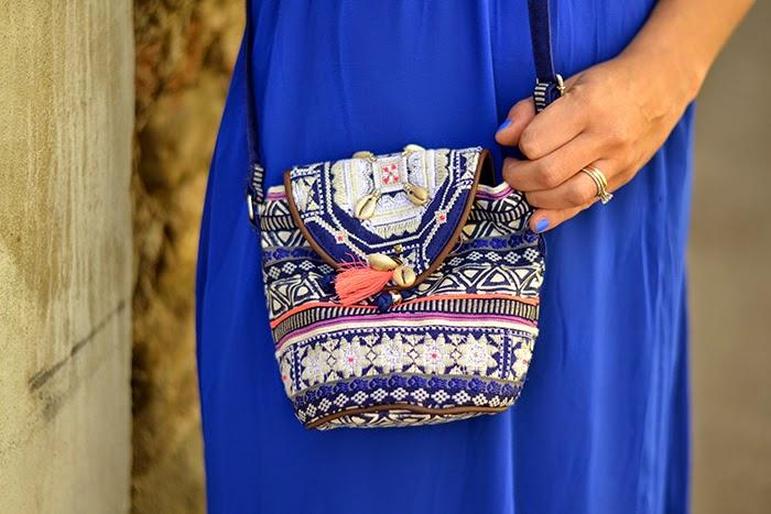f51db36bbf5d abito lungo stile hippie. boho outfit fashion blogger. borsa etnica  accessorize