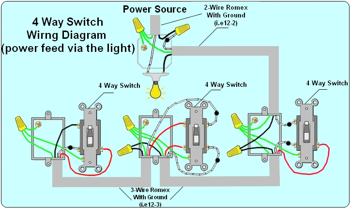wiring diagrams 3 way switches multiple lights images way way switch wiring diagram on 4 power at