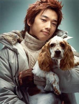 Foto de Rain posando con mascota