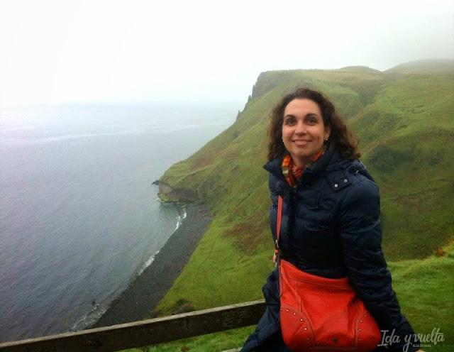 En un acantilado de Skye