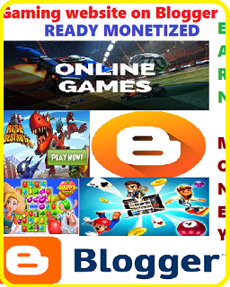 Ready Monetized Blogger Gaming Website