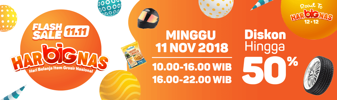 Ralali - Promo Flash Sale 11.11 di Hari Belanja Item Grosir Nasional (11 Nov 2018)