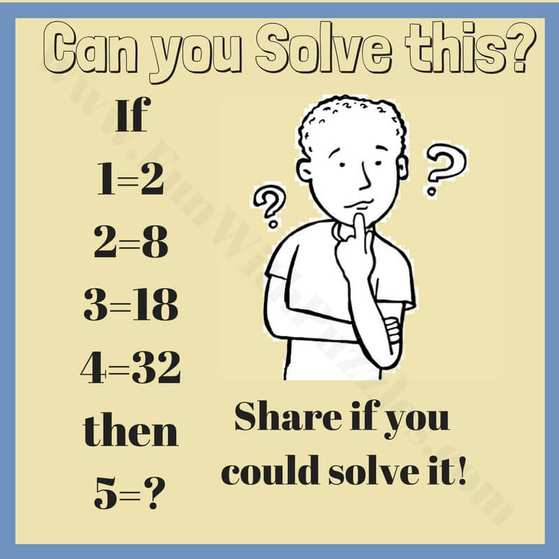 Math Logic Brain Teasers for high school students-Fun With