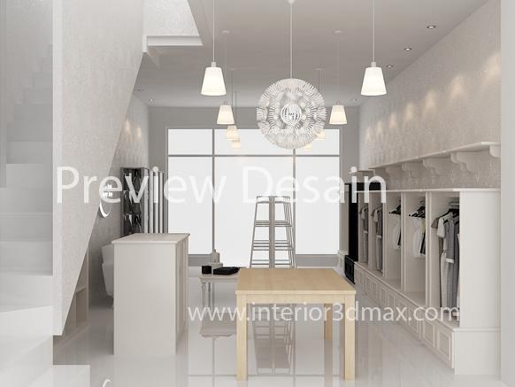 Contoh Desain Interior Butik Bergaya Modern Minimalis Boutique Rumahan Kami Arusha Bergerak Dibidang Jasa Online Pembuatan Design 2D 3D