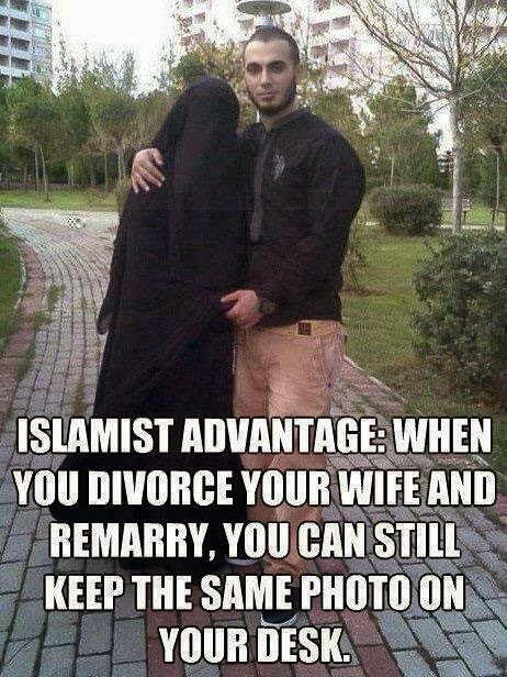 Funny muslim divorce joke picture