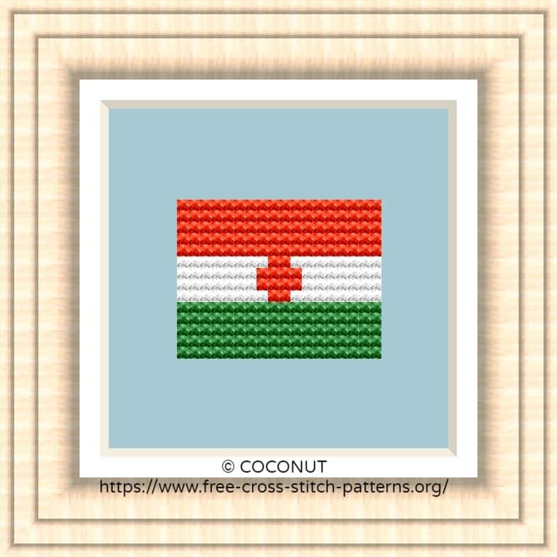 NATIONAL FLAG OF NIGER CROSS STITCH CHART