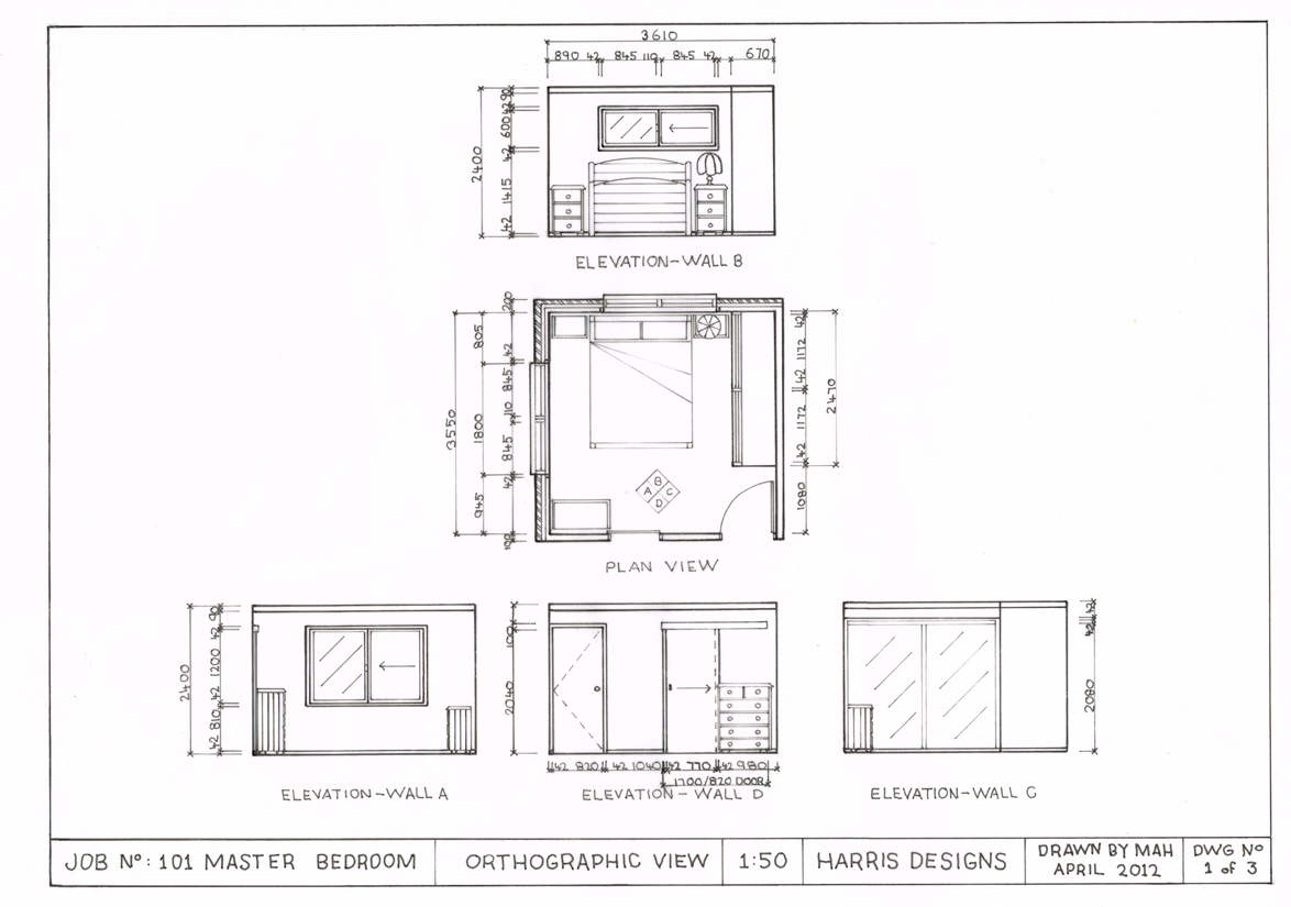 Interiors C3id002b Drafting The Orthographic