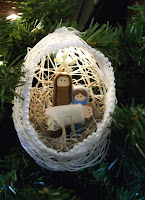 String nativity scene ornaments