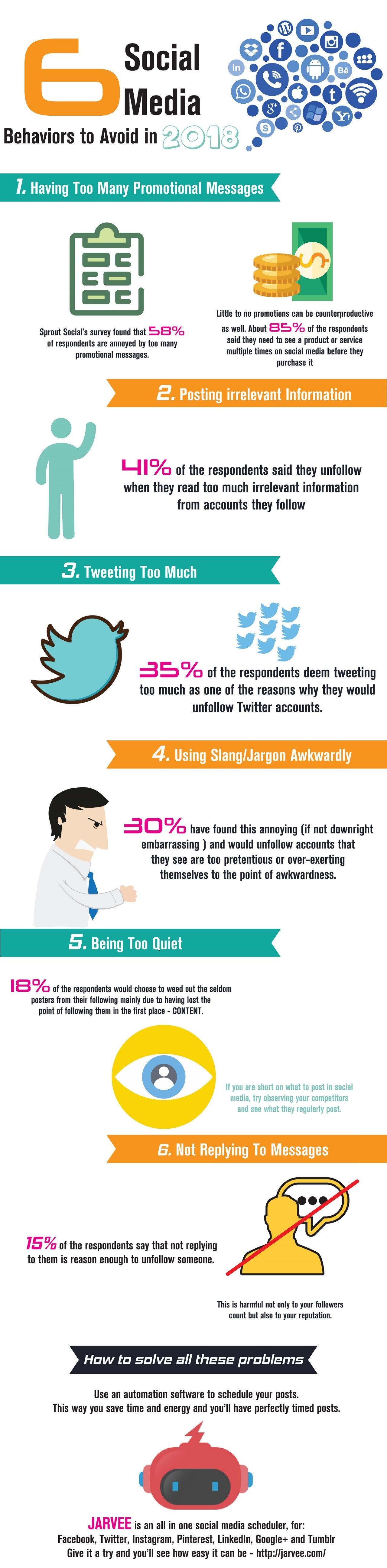 6 Social Media Behaviors To Avoid In 2018 #infographic