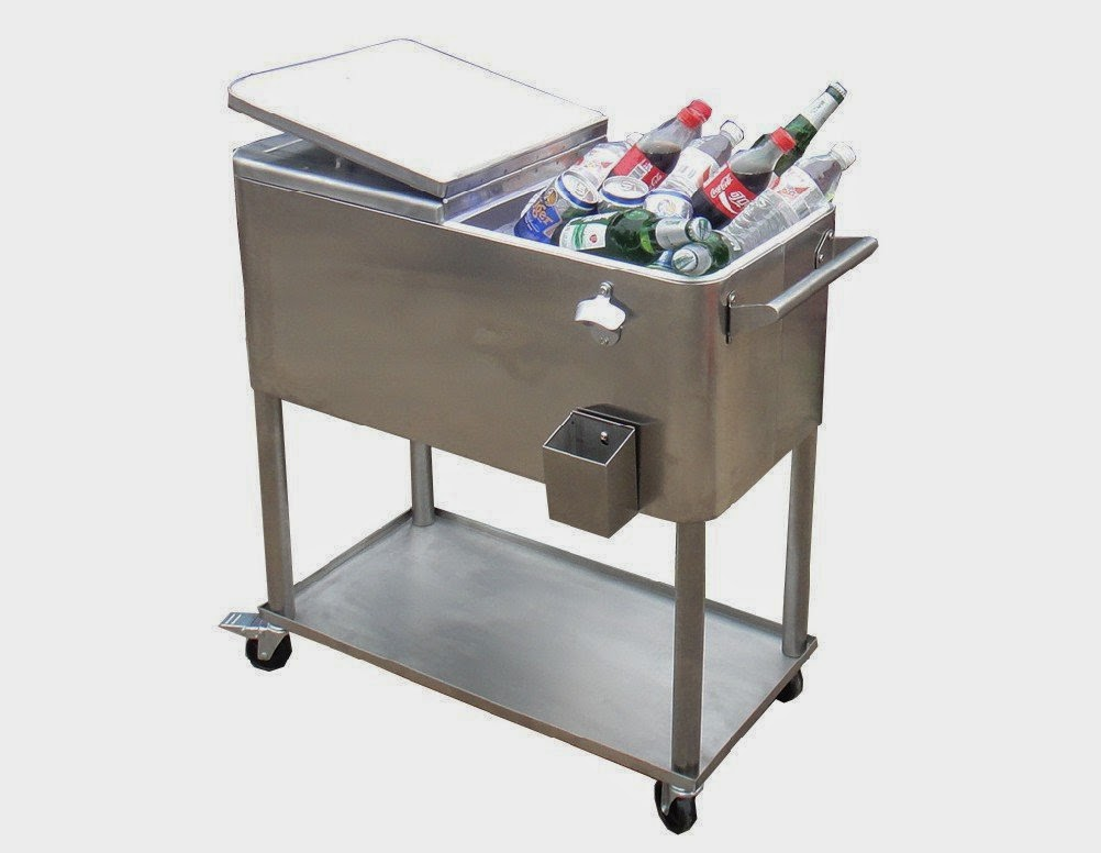 Patio Cooler: Stainless Steel Patio Cooler