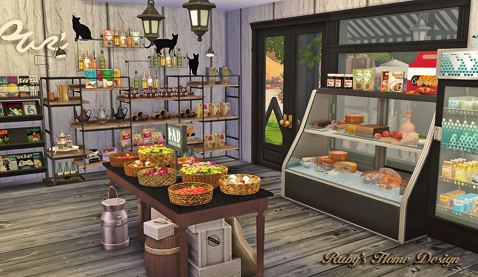 hanging chair the sims 4 stand sims4 deli & grocery store 小吃雜貨鋪 - ruby's home design