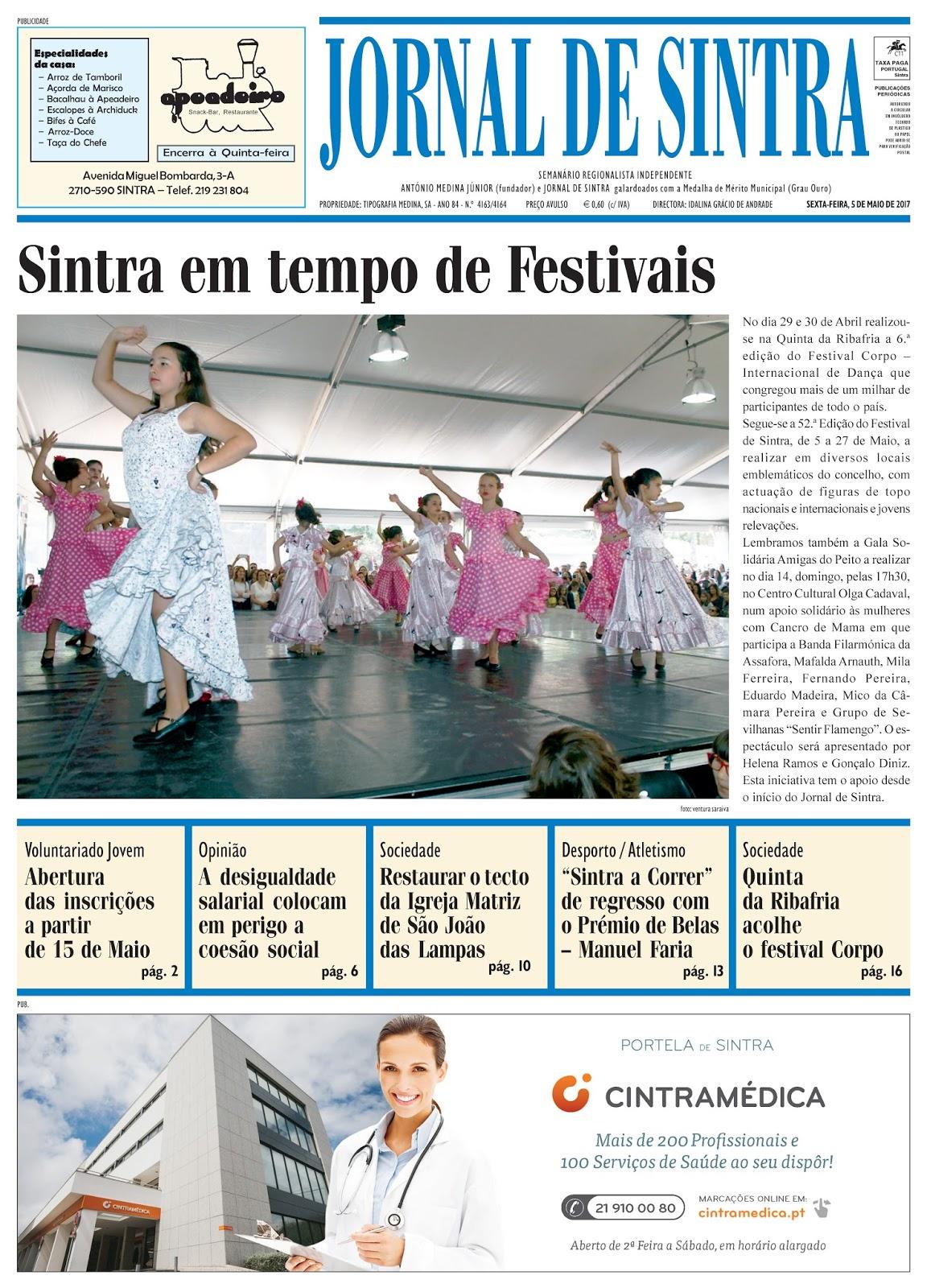 Capa da edição de 05-05-2017