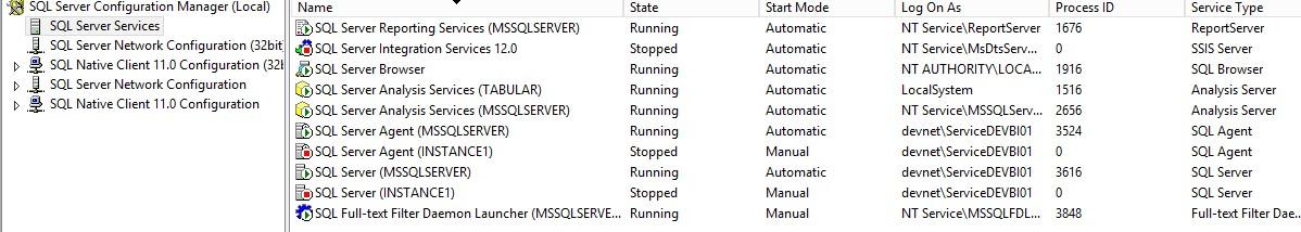 Connecting to SQL Server Analysis Services (SSAS) through