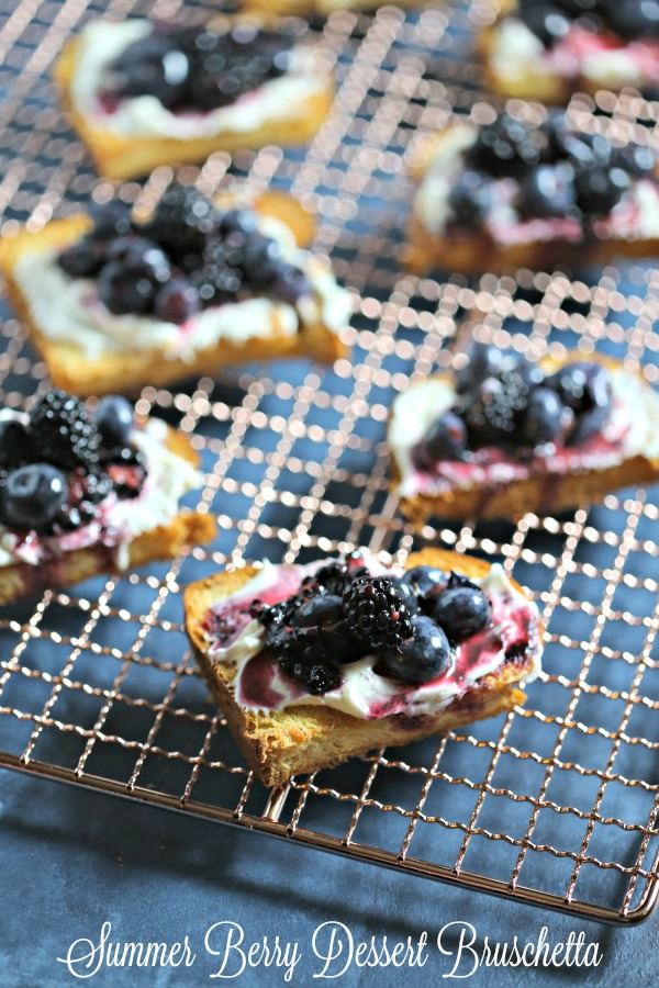 Summer Berry Dessert Bruschetta by Cooking In Stilettos, featured at Knick of Time