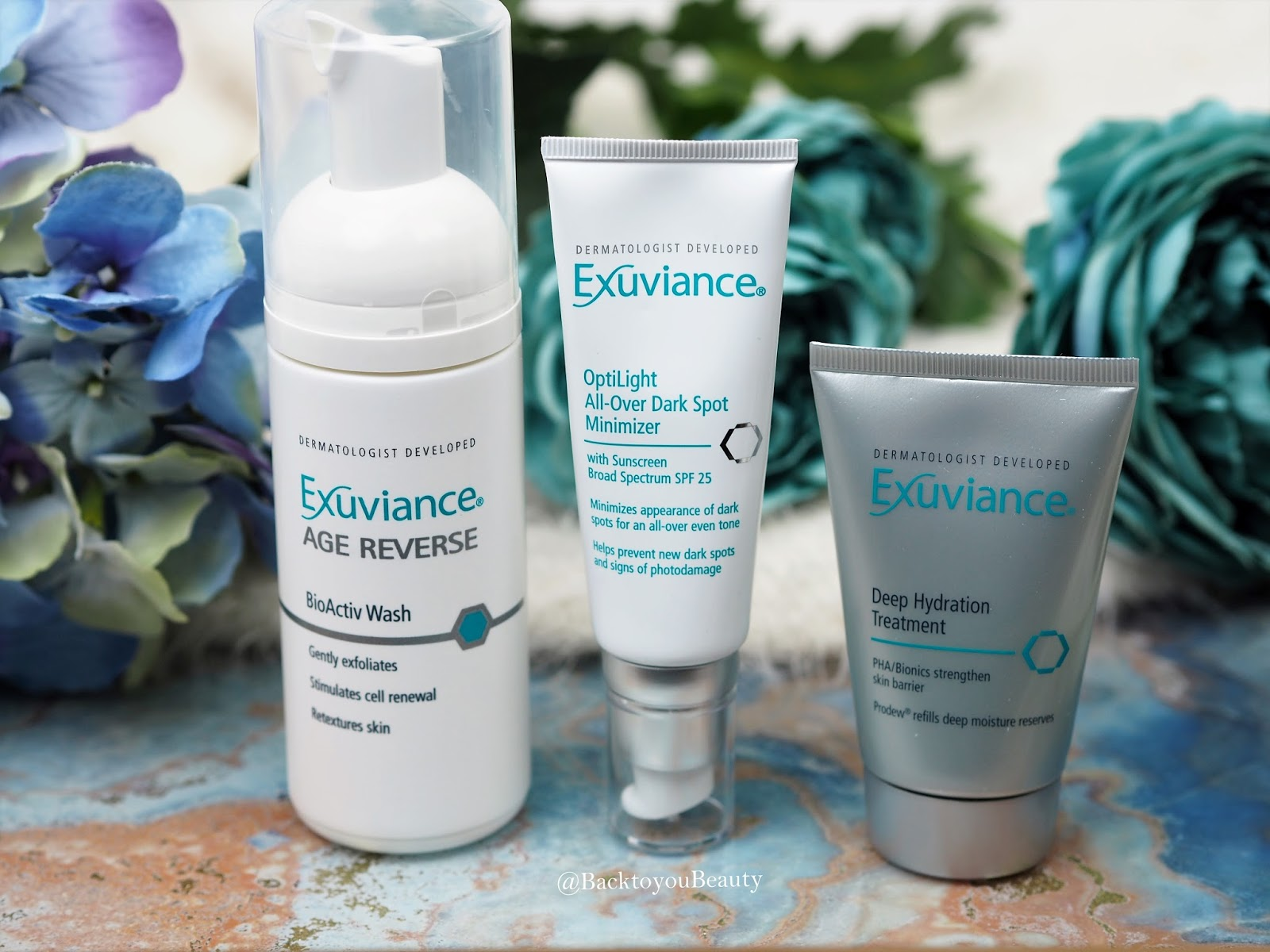 Dermatologist developed skincare from Exuviance
