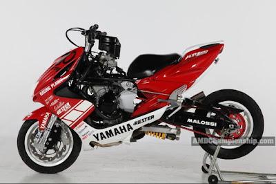 Yamaha Aerox 1000cc, Modifikasi Ekstrem Motor Skutik Sehingga Terlihat Garang