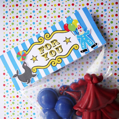 DIY Circus Birthday Crayon Party Favors