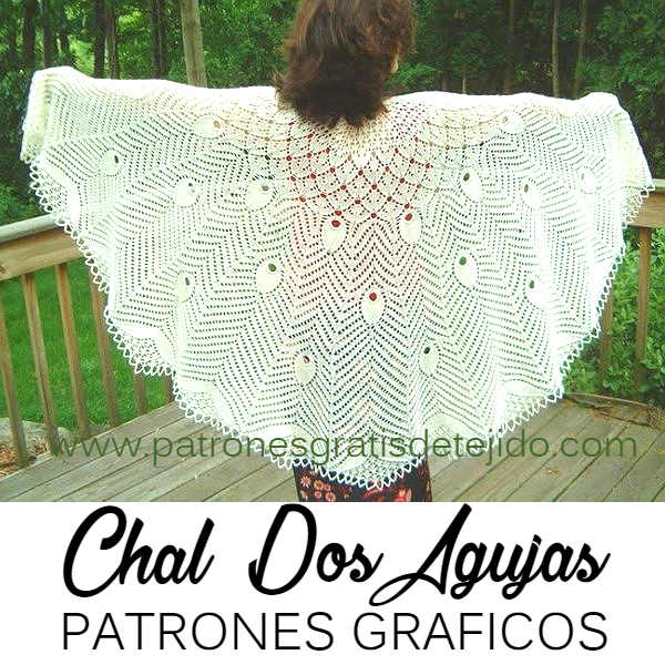 Chal Dos Agujas Maravilloso / Patrones | Crochet y Dos agujas ...
