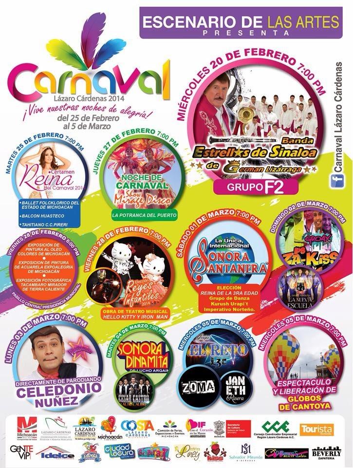 eventos carnaval lázaro cárdenas 2014