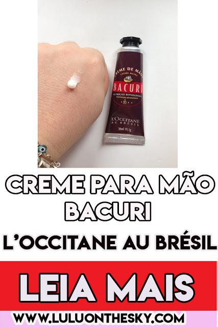 Creme para mãos Bacuri L' Occitane Au Brésil
