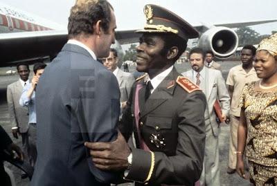 Una Guardia Mora para Obiang, presidente de la antigua Guinea Española en 1979