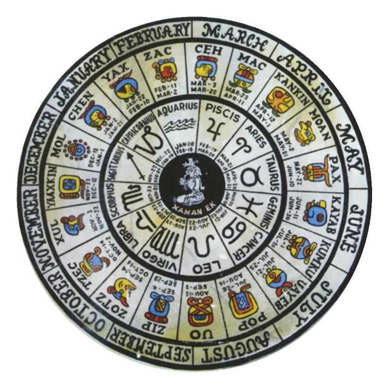 Calendario Solar Maya.Calendario Maya Meses Signos Zodicao Solar Astrologia