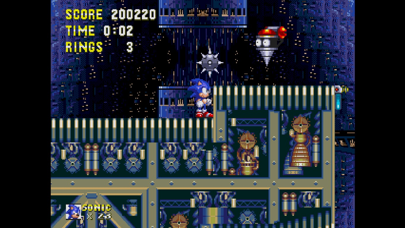 Super Game Fighter Sonic Knuckles Finale Death Egg Zone
