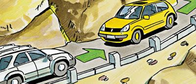السياقة في المناطق الجبلية