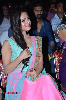 Actress Naina Ganguly Stills in Long Dress at Vangaveeti Audio Launch  0096.JPG