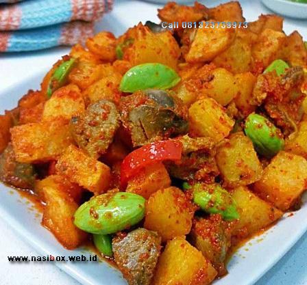Resep sambel goreng kentang nasi box kawah putih ciwidey