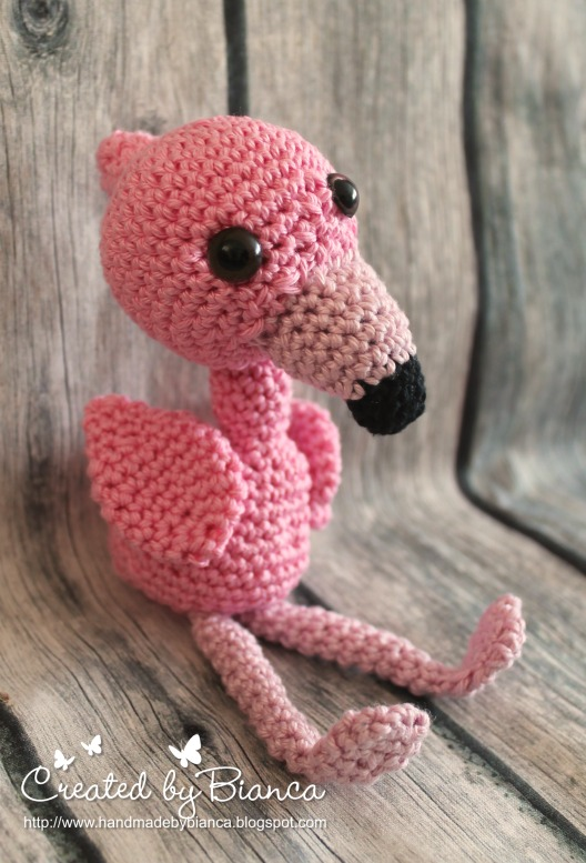 Handmade By Bianca Baby Flamingo Amigurumi