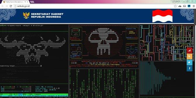 Situs Resmi Sekretariat Kabinet RI  www.setkab.go.id Diretas Hacker