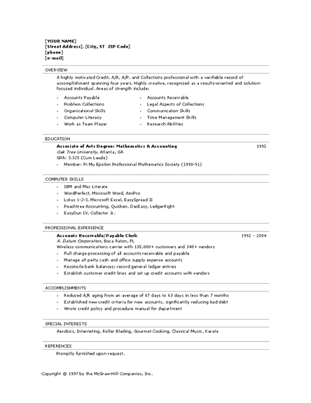 Sample Resume For Clerical Writing For Academic Positions Clerical Resume  Formt Clerical Assistant Resume  Clerical Assistant Resume