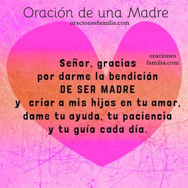 Oración corta de una madre por sus hijos, oraciones de familia, oraciones para orar por los hijos, mamá ora, plegaria corta de familia por Mery Bracho.