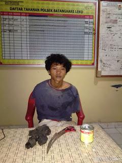 Wow, Warga BHL Ini Ditangkap Polisi Atas Kepemilikan Sajam Saat Asyik Hisap Aibon