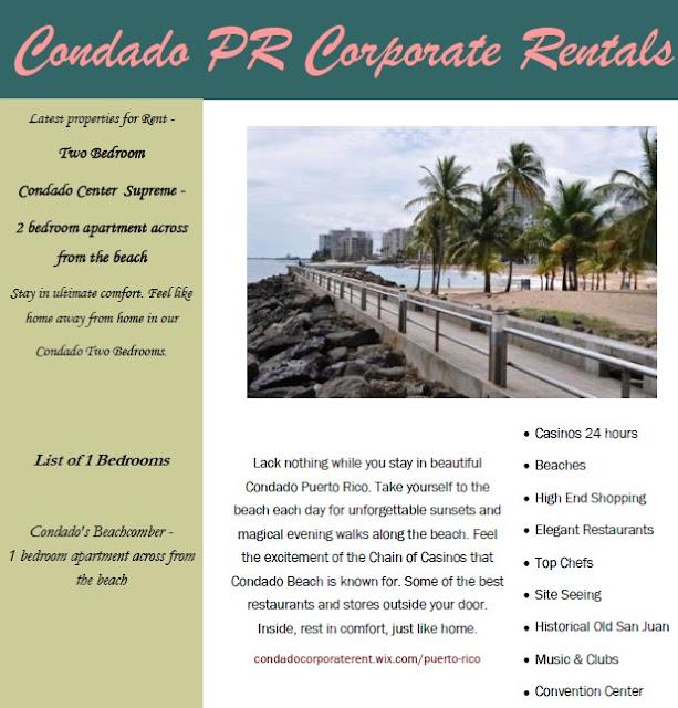 Condado Puerto Rico Corporate Rentals
