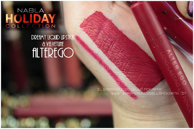 alterego swatches velvetline liquid lipstick  nabla rossetto liquido