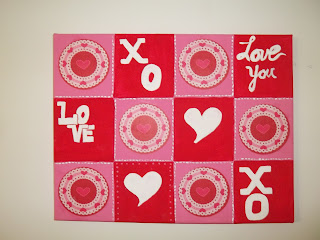 Cupcake Liner Valentine Wall Canvas