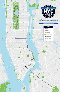 United NYC Half 2018 course map